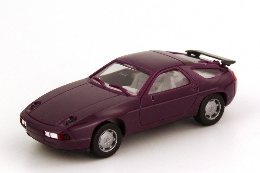 Foto 1:87 Porsche 928 S4 dunkel-violett IA grauweiß - herpa 2071