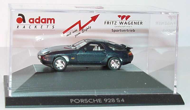 Foto 1:87 Porsche 928 S4 dunkelblau-met. Adam Rackets, Fritz Wagener Sportvertrieb herpa