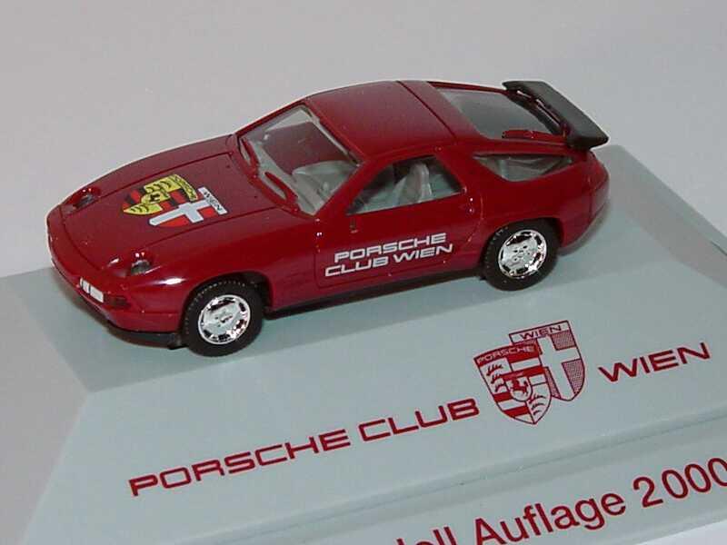 Foto 1:87 Porsche 928 S4 weinrot Porsche Club Wien herpa
