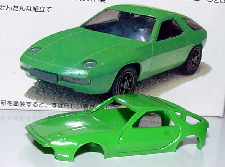 Foto 1:87 Porsche 928 grün (DieCast-Kit) Masudaya