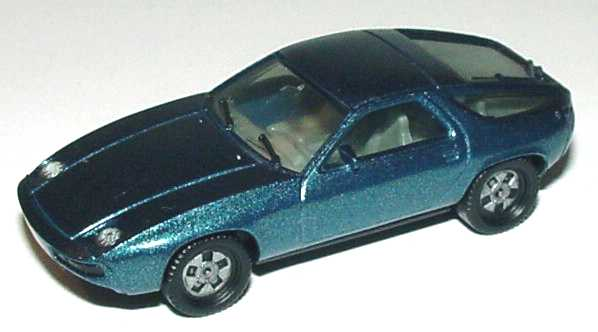 Foto 1:87 Porsche 928 petrolblau-met. herpa 3013