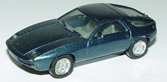 Foto 1:87 Porsche 928 petrolblau-met. (verchromte Felgen) herpa 3013
