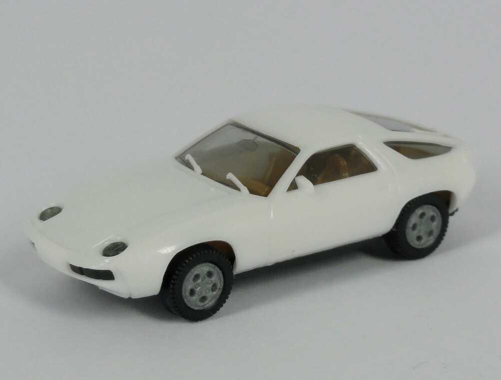 Foto 1:87 Porsche 928 weiß, Telefonfelgen, IA beige herpa 2013