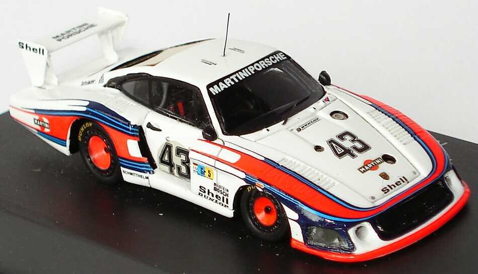 Foto 1:87 Porsche 935/78 Le Mans 1978 Martini Nr.43 Stommelen / Schurti (8. Platz) Spark 87S010