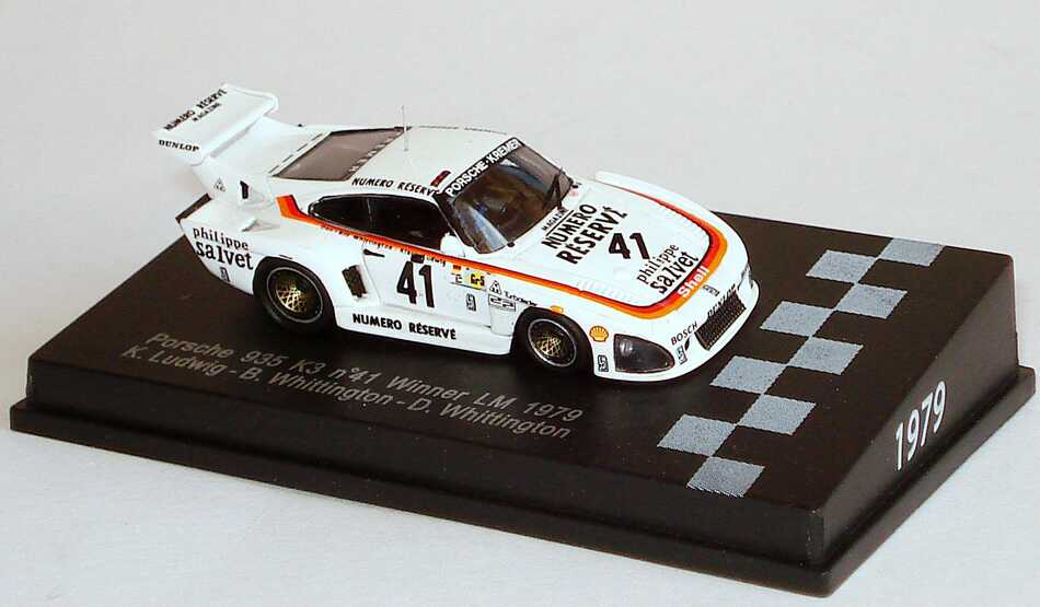 Foto 1:87 Porsche 935 K3 24h von Le Mans 1979 Kremer, Numero Réservé Nr.41, Ludwig / B. Whittington / D. Whittington (Siegerfahrzeug) Spark 87LM79
