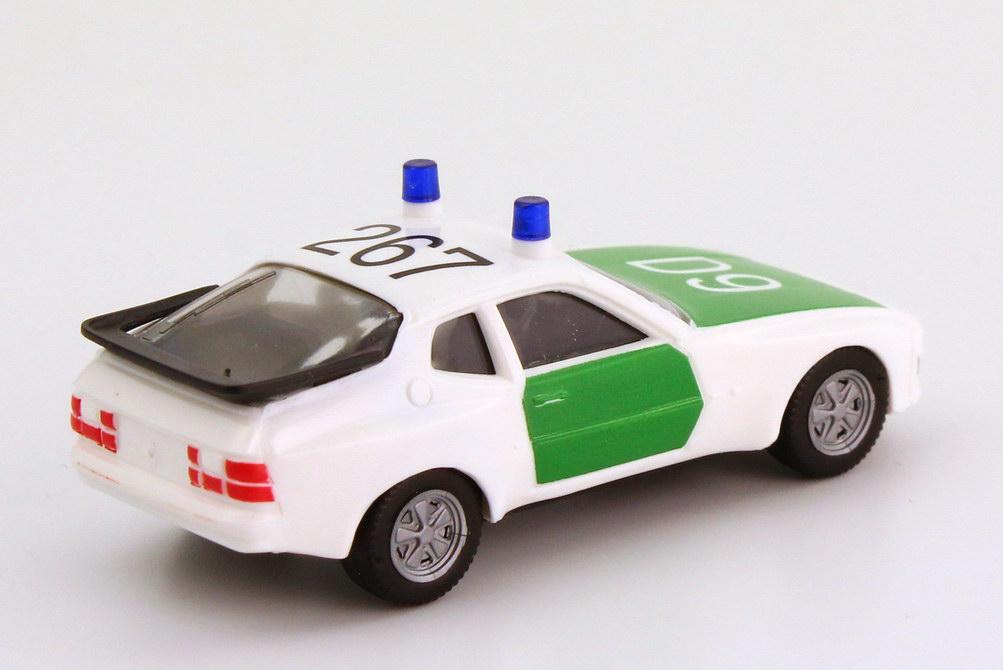 Foto 1:87 Porsche 944 Polizei weiß/grün D9, 267 herpa 042505