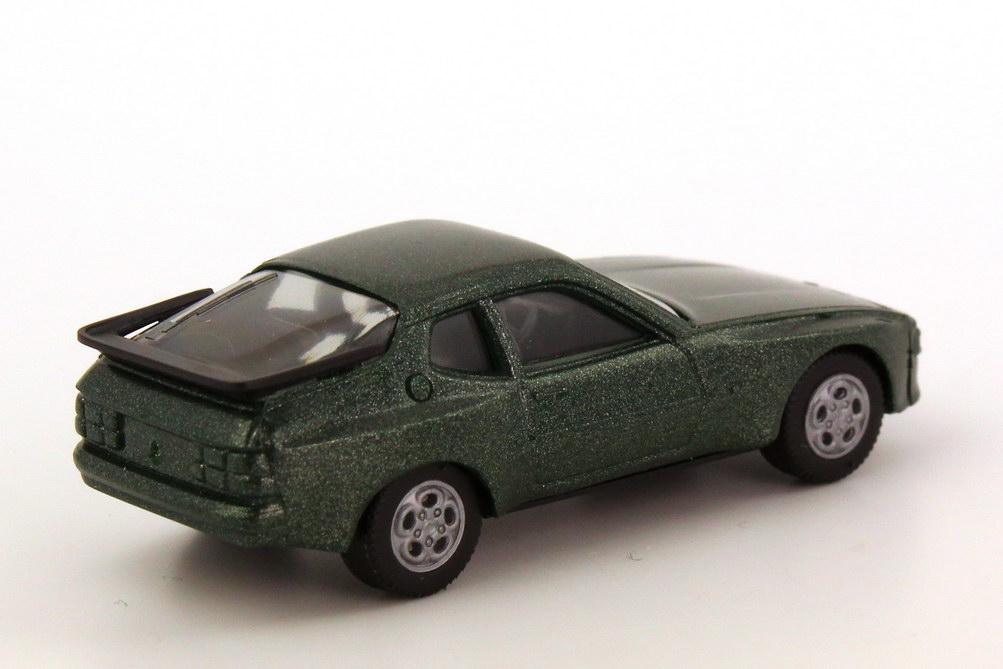 Foto 1:87 Porsche 944 dunkelgrün-met., Telefonfelgen, IA schwarz herpa 3039