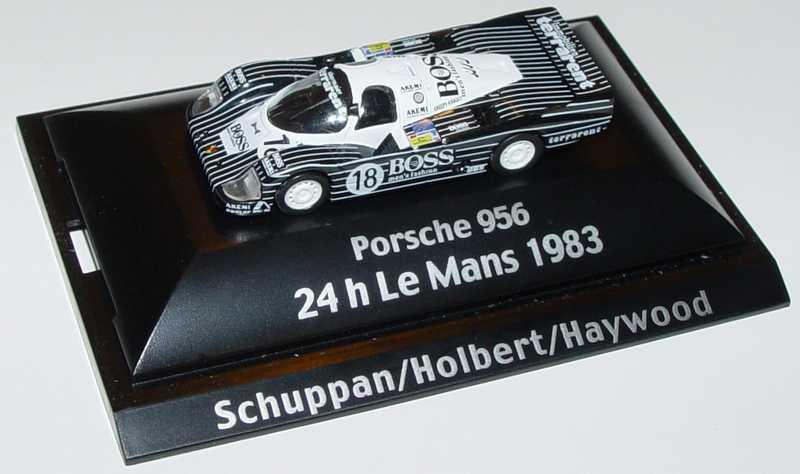 Foto 1:87 Porsche 956 Boss, Terrarent Nr.18, Schuppan/Holbert/Haywood (24 h Le Mans 1983) Trumpeter
