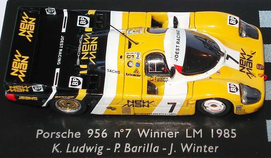 Foto 1:87 Porsche 956 24h von LeMans 1985 New Man, Joest Racing Nr.7, Klaus Ludwig / P. Barilla / J. Winter (Siegerfahrzeug) Spark 87LM85