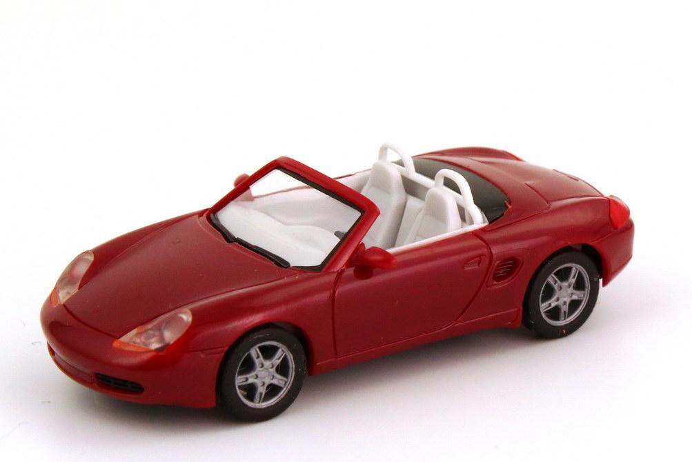 Foto 1:87 Porsche Boxster (986) weinrot herpa 022194