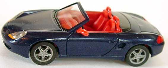 Foto 1:87 Porsche Boxster dunkelblaumet., IA + Spiegel rot herpa 032193