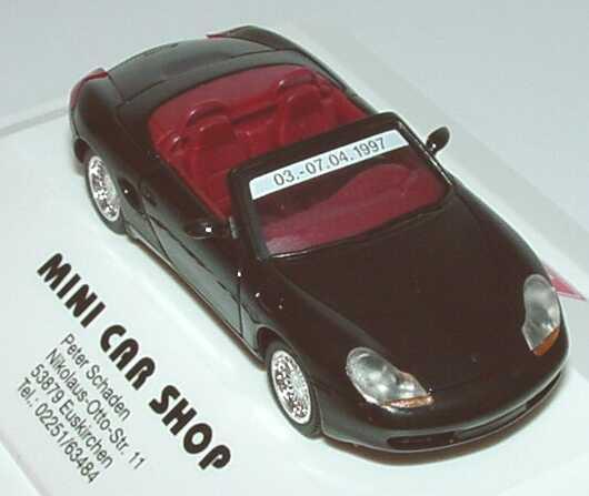 Foto 1:87 Porsche Boxster schwarz Techno Classica Essen 1997 herpa