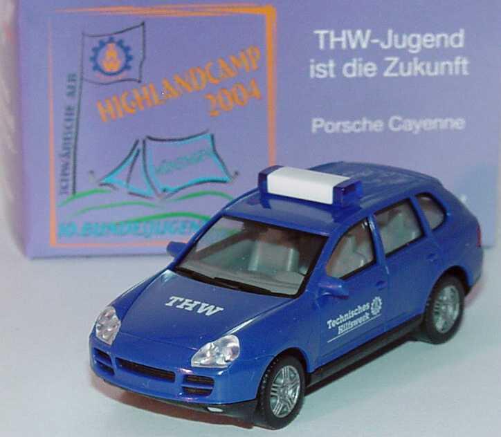 Foto 1:87 Porsche Cayenne S THW 10. Bundeswettkampf 1. August 2004, Auflage 1500 Stück herpa 270854