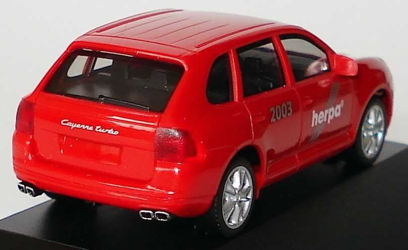Foto 1:87 Porsche Cayenne Turbo 20. Herpa IAA 2003, Made in Germany! - Extra-Edition 7 herpa 263122