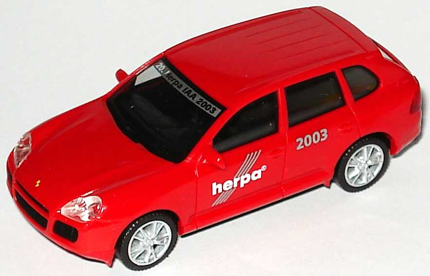 Foto 1:87 Porsche Cayenne Turbo 20. Herpa IAA 2003, Made in Germany! herpa