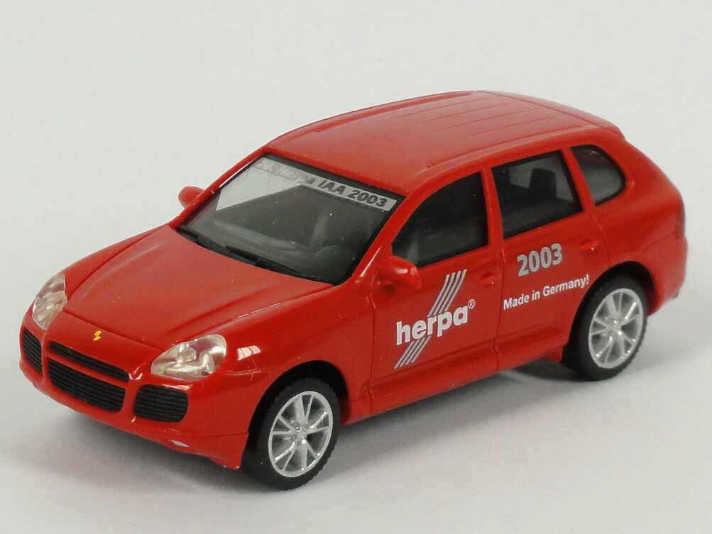 Foto 1:87 Porsche Cayenne Turbo 20. Herpa IAA 2003, Made in Germany! herpa