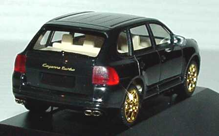 Foto 1:87 Porsche Cayenne Turbo schwarz/gold 2. Advent 2003 herpa 149495