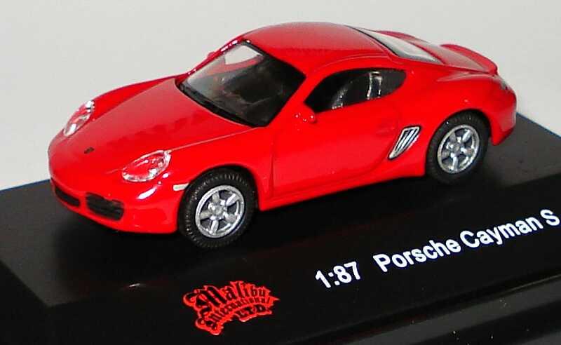 Foto 1:87 Porsche Cayman S rot Malibu International