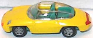 Foto 1:87 Porsche Panamericana Vorserie gelb (grüne Innenausstattung) Hohmann