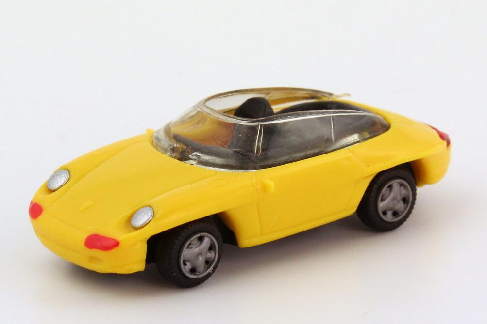 Foto 1:87 Porsche Panamericana gelb Hohmann