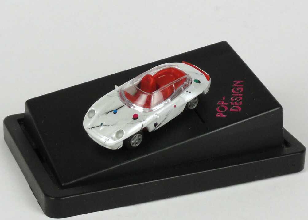 Foto 1:87 Porsche Panamericana weiß-met. Pop-Design r + h modellauto