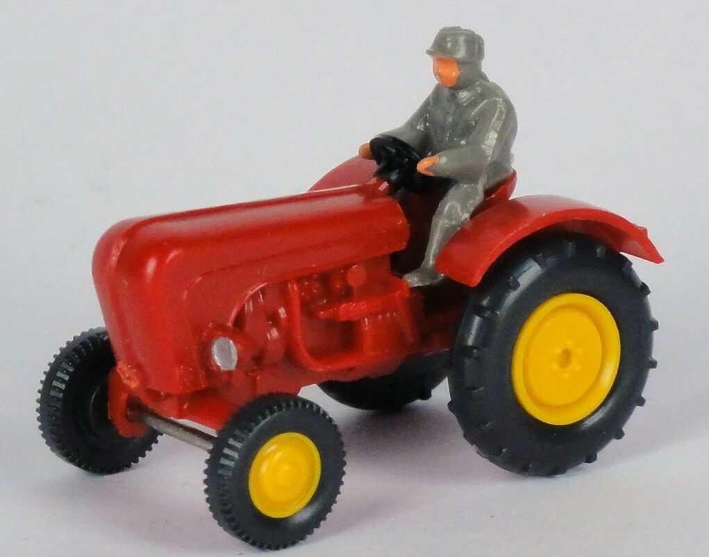 Foto 1:87 Porsche Schlepper / Traktor rot Wiking 87801