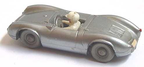 Foto 1:87 Porsche Spyder silber mit Fahrer Wiking