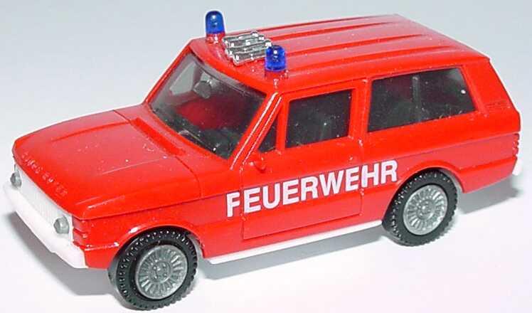 Foto 1:87 Range Rover Feuerwehr (Chassis weiß, IA schwarz) herpa
