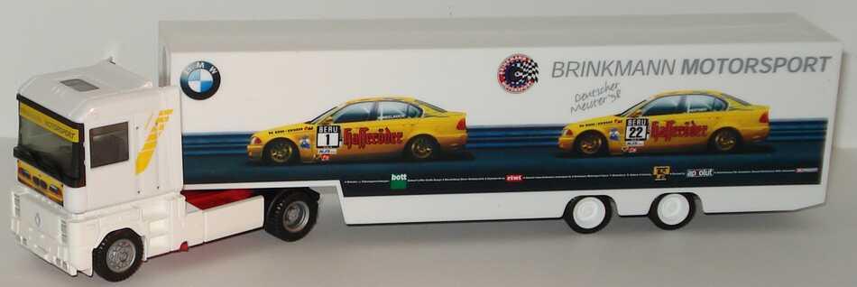 Foto 1:87 Renault AE 500 Magnum RenntransportSzg 2/2 STW Cup BMW, Brinkmann Motorsport herpa 037853
