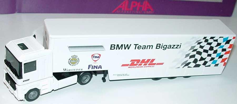 Foto 1:87 Renault AE 500 Magnum RenntransportSzg 2/3 STW Cup BMW Team Bigazzi, Warsteiner, Fina, DHL Albedo