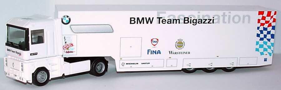 Foto 1:87 Renault AE 500 Magnum RenntransportSzg 2/3 STW Cup BMW Team Bigazzi, Warsteiner, Fina herpa 037280