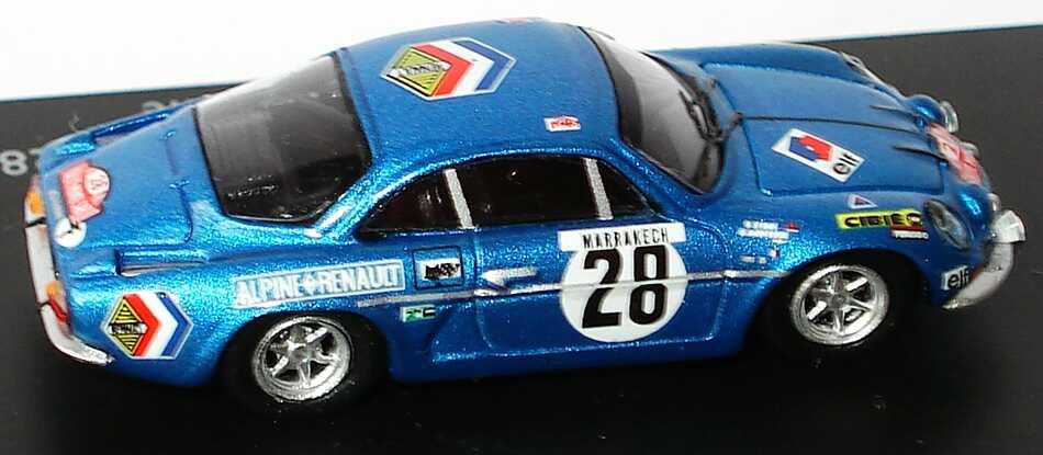 Foto 1:87 Renault Alpine A110 1600S Rallye Monte Carlo 1971 Alpine Renault, elf Nr.28, Anderson / Stone (Siegerfahrzeug) Spark 87S021