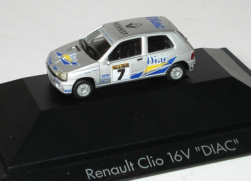 Foto 1:87 Renault Clio 16V RR France Diac Nr.7 herpa 100557