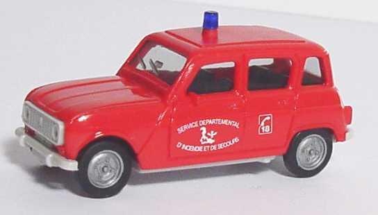 Foto 1:87 Renault R4 Feuerwehr Niederlande Service Departemental herpa 084048