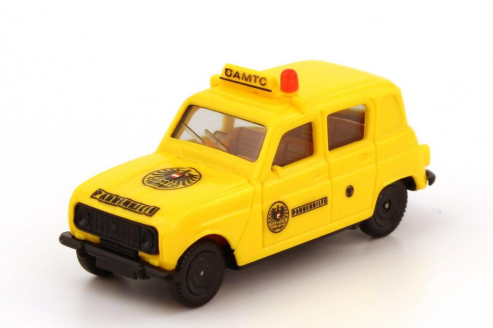 Foto 1:87 Renault R4 (Seitenfenster hinten geschlossen) ÖAMTC Pannenhilfe, Decals Angebracht herpa