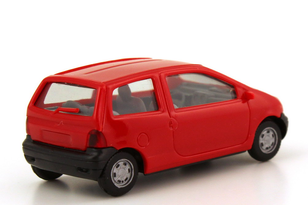 Foto 1:87 Renault Twingo rot, Sitze grau, Minikit gebaut herpa 021579/012218