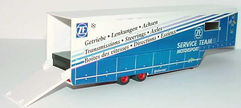 Foto 1:87 Renntransport-Auflieger 2a ZF Service Team Motorsport B&S Automodelle