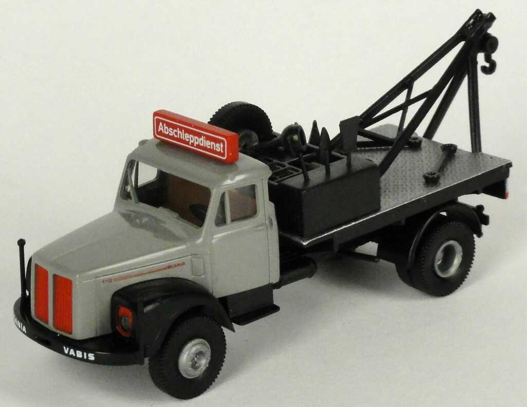 Foto 1:87 Scania L 110 Abschleppwagen 2achsig grau/schwarz Abschleppdienst Brekina 85002