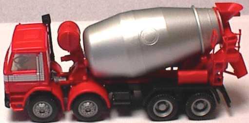 Foto 1:87 Scania P113 (K) 4a Betonmischer rot/silber (Scania) herpa