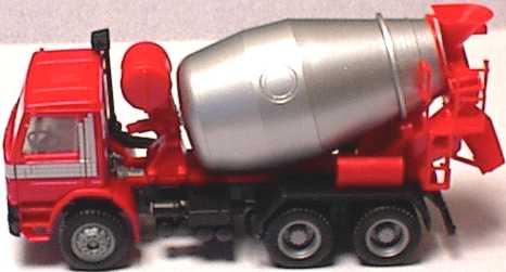 Foto 1:87 Scania P93 (K) 3a Betonmischer rot/silber (Scania) herpa