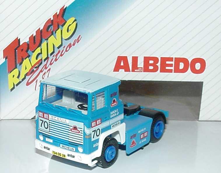 Foto 1:87 Scania R111 2a Renntruck Baron, Antar, RTL Nr.70 Albedo 600114
