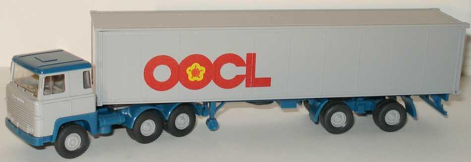 Foto 1:87 Scania R111 40CoSzg 3/2 OOCL Wiking 520