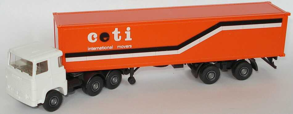 Foto 1:87 Scania R111 40CoSzg 3/2 ceti - international movers Wiking 520