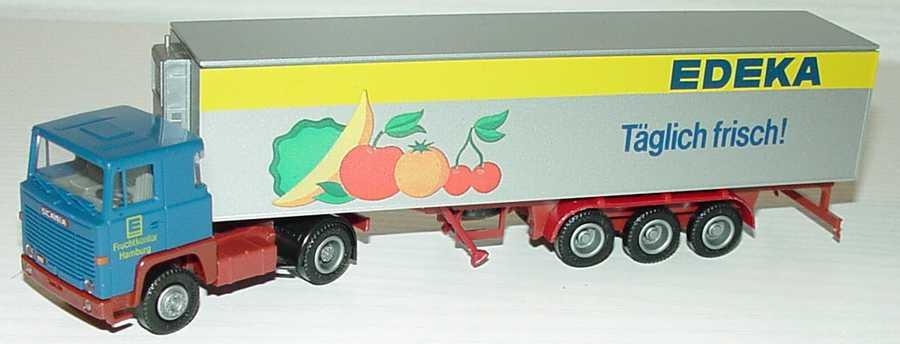 Foto 1:87 Scania R111 KükoSzg 2/3 Edeka - Täglich Frisch! - Fruchtkontor Hamburg Albedo