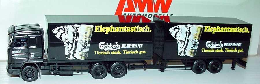 Foto 1:87 Scania R113 Streamline TanGetränkeKoHgz 3/2 Carlsberg Elephant - Elephantastisch, Meyer Transporte AMW/AWM 70240