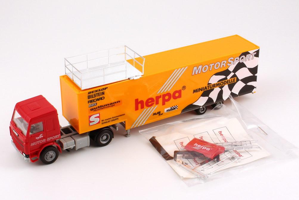 Foto 1:87 Scania R113 Topline JuKoSzg 2/2 Renntransporter herpa Motorsport herpa 821013