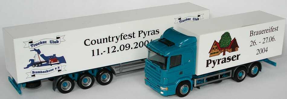 Foto 1:87 Scania R124 Fv 60 KoHgz 3/5 Trucker Club Brombachsee e. V., Pyraser Brauereifest / Countryfest herpa 271660