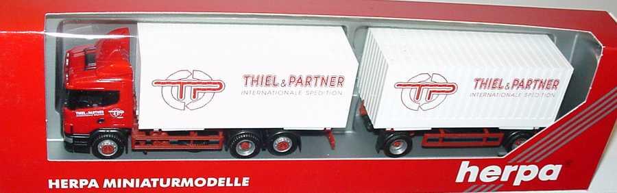 Foto 1:87 Scania R124 Fv Cargo-Box-WKoHgz 3/2 Thiel & Partner herpa 145305