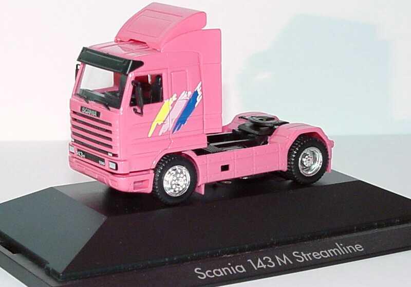 Foto 1:87 Scania R143 Streamline Sattelzugmaschine 2achsig pink - herpa 110143