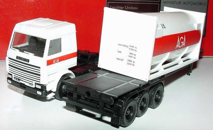 Foto 1:87 Scania R143 Topline 20 TCoSzg 2/3 AGA herpa 821002